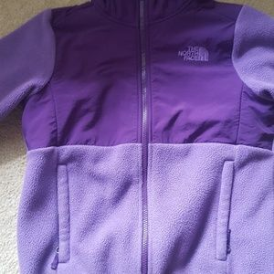 North face hooded girls jacket size 10/12